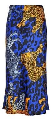 Dorothy Perkins Womens Lola Skye Blue Satin Midi Skirt