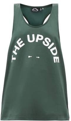 The Upside Brooklyn Logo-print Tank Top - Womens - Green Print