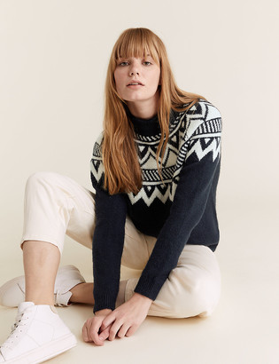 Marks and Spencer Fair Isle Funnel Neck Jumper