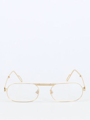 Cartier Oval Frame Glasses