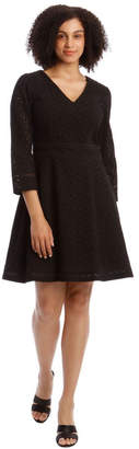 Basque Broiderie Fit And Flare Dress
