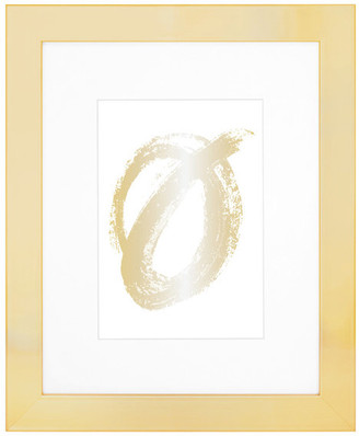 """Edgewood Parkwood 8""""x10"""" Frame With 5""""x7"""" Mat & Removable Easel, Gold"""