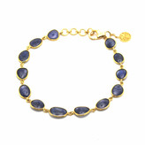 Tresor Collection - 18K Yellow Gold Bracelet With Blue Sapphire