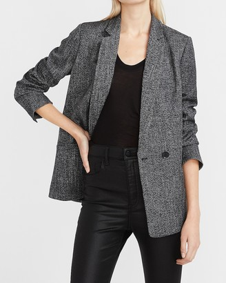 Express Textured Double Breasted Blazer