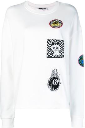 McQ Supersized patch-appliqued sweatshirt