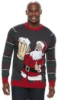 Method Products Big & Tall Santa with Beer Ugly Christmas Sweater
