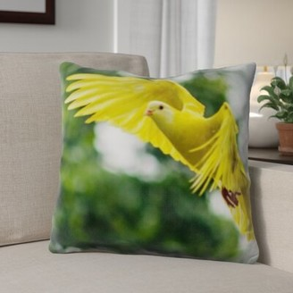 Bellino East Urban Home Bird Flying Throw Pillow East Urban Home