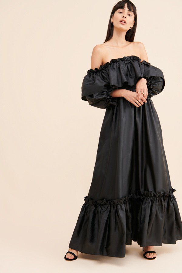 LoveShackFancy Tara Ruffle Maxi Dress