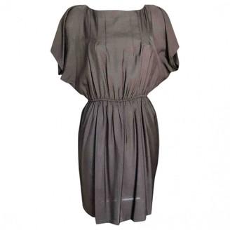 Sessun Brown Silk Dress for Women