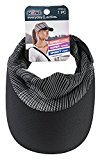 Scunci Tie Back Sporty Visor Head Wrap, Black/White