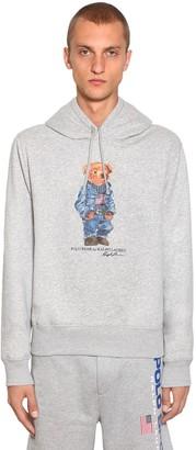 Polo Ralph Lauren Bear Hood Cotton Blend Sweatshirt