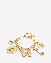White House Black Market Antiqued Butterfly Charm Toggle Bracelet