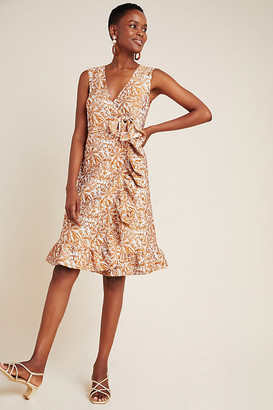 Anna Sui Gardenia Jacquard Dress By in Brown Size 4