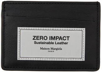 Maison Margiela Black Zero Impact Leather Card Holder