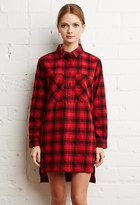 Forever 21 FOREVER 21+ Tartan Plaid Flannel Dress