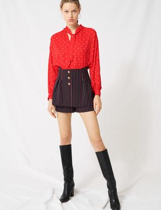 Maje Trompe-lil-effect striped shorts