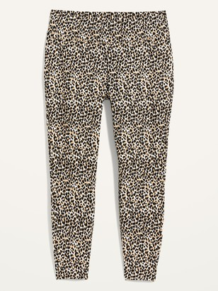 Old Navy High-Waisted Stevie Secret-Slim Leopard-Print Plus-Size Pants