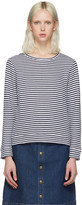 A.P.C. White Striped Pullover