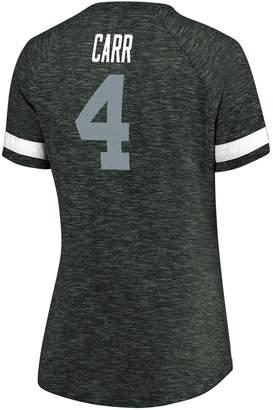 Unbranded Women's Plus Size NFL Oakland Raiders Derek Carr V-Neck Tee
