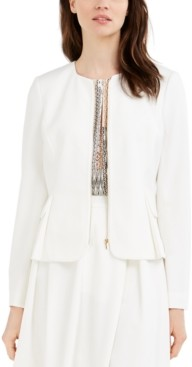Calvin Klein Petite Scuba Zip Front Jacket