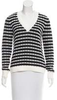 Joseph Basketweave V-neck Sweater