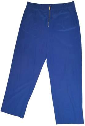 Celine Blue Silk Trousers