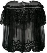 Alberta Ferretti layered sheer blouse - women - Silk/Cotton/Polyester - 42
