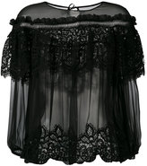 Alberta Ferretti layered sheer blouse