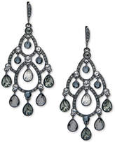 Givenchy Hematite-Tone Multi-Stone Open Chandelier Earrings