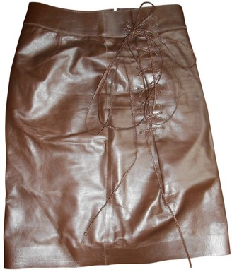 Gucci Brown Leather Skirt for Women