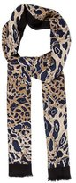 Tory Burch Leopard Wool Scarf