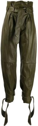 ATTICO Slim Leather Trousers