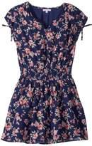 Ella Moss Floral Print Chiffon Dress Girl's Dress