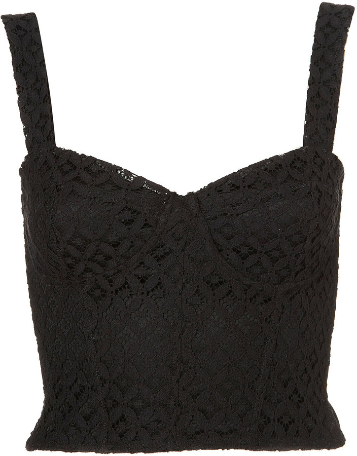 Topshop Lace Corset Style Top