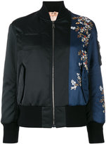 No.21 flower embroidery bomber jacket - women - Polyester/Viscose - 40