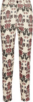 Isabel Marant Marak printed cotton-blend corduroy skinny pants