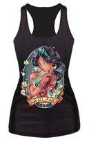 Ninimour- Women Digital Printed Sleeveless T Shirt Vest Tank Tops (M, Jasmine)