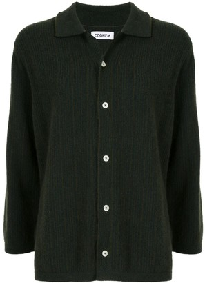 Coohem Striped Cashmere Knit Shirt