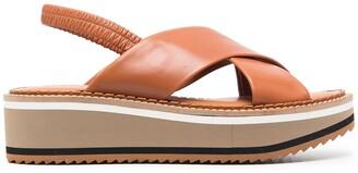 Clergerie Freddom criss-cross wedge sandals
