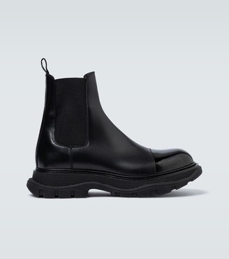 Alexander McQueen Chunky sole leather boots
