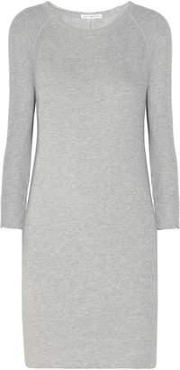 James Perse Melange French Cotton-terry Mini Dress