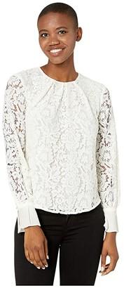 Lauren Ralph Lauren Lace Blouse (Mascarpone Cream) Women's Clothing