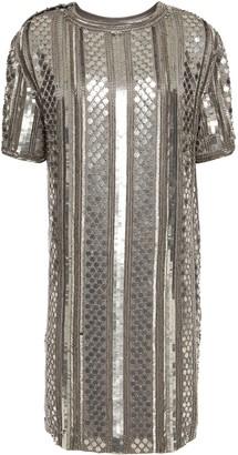 Alberta Ferretti Embellished Satin-crepe Mini Dress