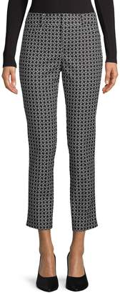 Lord & Taylor Kelly Ankle Geo Knot-Print Pants