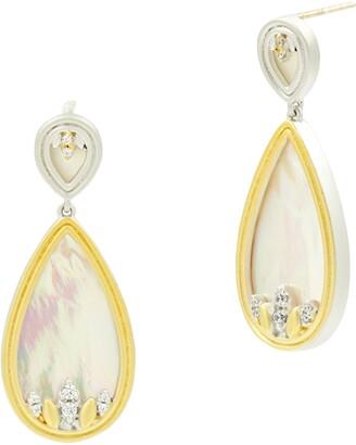 Freida Rothman Fleur Bloom Teardrop Earrings