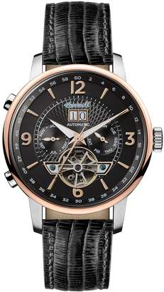Ingersoll The Grafton Automatic Black Leather Strap Watch