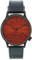 Komono Black Wood Winston Watch