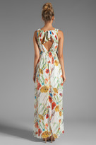 Alice + Olivia Mel Open Back Gathered High-Low Dress