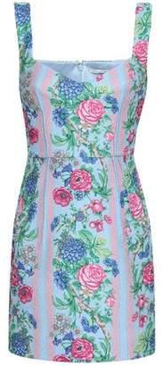 Emilia Wickstead Judita Floral-print Cloque Mini Dress