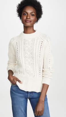 Scotch & Soda Chunky Cable Peplum Sweater
